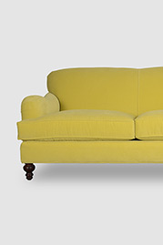Basel tight back English roll arm sofa in Siena 212 spring green velvet fabric