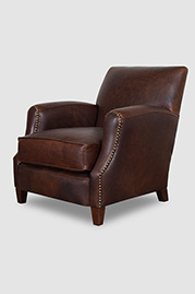 Howdy armchair in Berkshire Bourbon leather