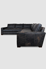 Cole sectional in Ragtime Onyx destroyed leather