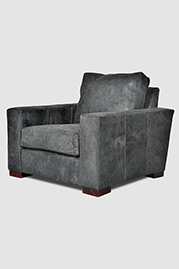 Cole armchair in Ragtime Charcoal destroyed leather