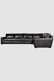 Cole extended depth sectional in Papillon Shadow leather