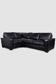 Cole sectional in Deer Run Black leather