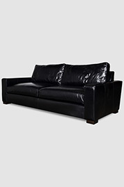 Cole sofa in Mont Blanc Midnight leather