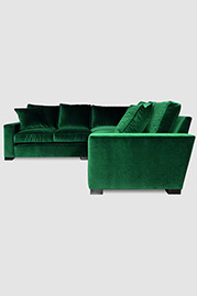 Cole sectional sofa in Como Emerald velvet fabric