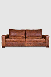 Cole sofa in Storm Clove leather