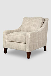 Gracie armchair with pillow back in Landfall Shale stain-proof fabric