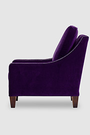 Gracie armchair in Como Deep Purple velvet fabric