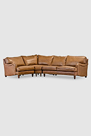 Blythe sectional in Sedona Saffron leather