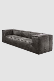 Johnny chunky sofa in Untouchable Grey Trend with reversed seams