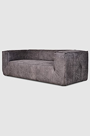 Johnny sofa in grey leather