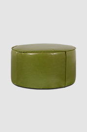 Rooster ottoman in Echo Autumn Leaf green leather