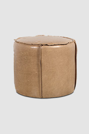 Rooster ottoman in Echo Taupe leather