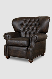 Eugene recliner in Brisa Distressed Steerhide faux leather