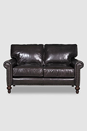 Didi loveseat in Firenze Smoke leather