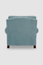 Didi armchair in Henry New Aqua velvet with nail head trim