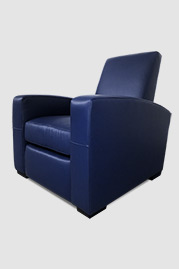 Prescott recliner armchair in blue leather
