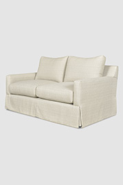 Palmer love seat in Alameda Flax fabric