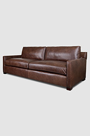 Palmer sofa in Dante Spice brown leather