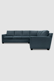 Palmer sectional in Varick Aegean stain-proof fabric