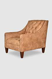 Lincoln armchair in Valhalla Pecan leather
