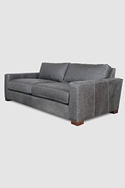 Ashley sofa in Berkshire Pewter leather
