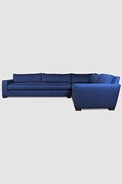 Ashley sectional in blue fabric