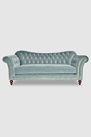 Watson sofa in Cannes Silver Sage velvet fabric
