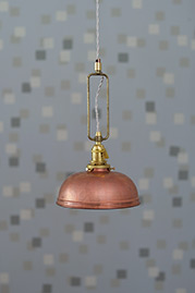 Guide Light with custom copper shade and ivory cord
