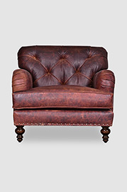 Alfie armchair in Berkshire Bourbon leather