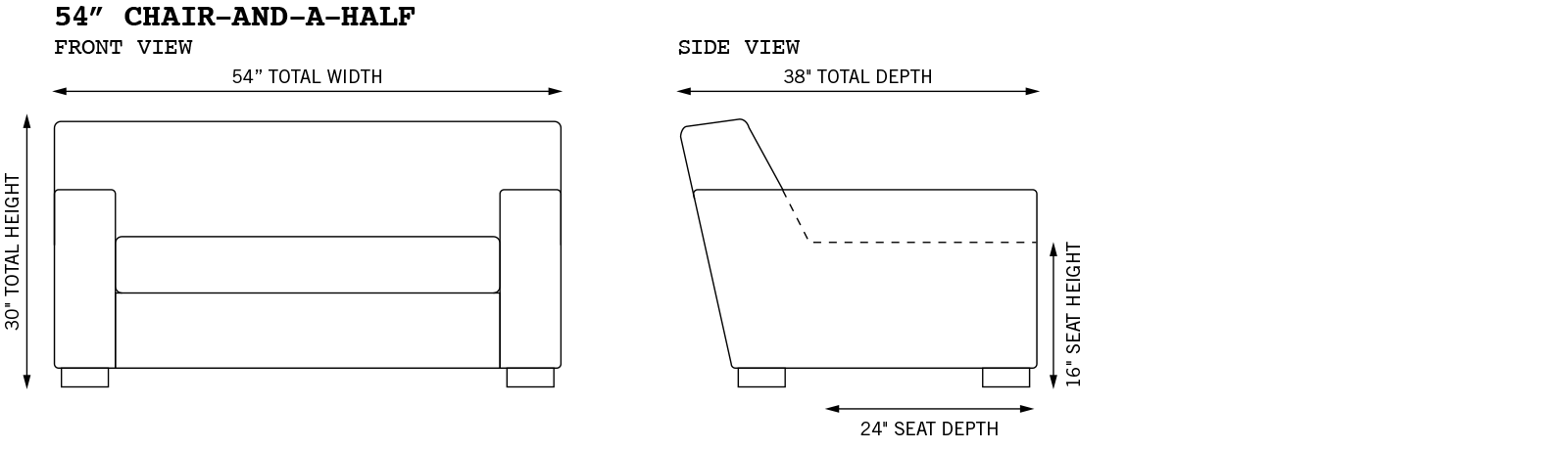 Bobby Ext Armchair Dimensions
