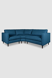 Natalie radius-corner sectional in Jumper Buoy stain-proof fabric