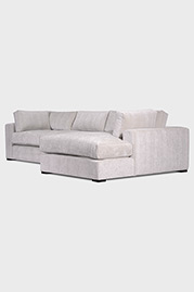 Chad sofa+chaise in Palm Bisque chenille