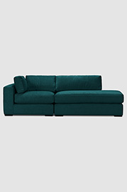 Chad sectional in Henry Peacock stain-proof velvet