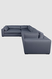 Chad sectional in Action Denim stain-proof fabric