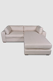 Chad sofa with chaise conversion kit in Chartres Flax stain-proof fabric