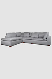 Wendy sectional in Action Stone stain-proof fabric