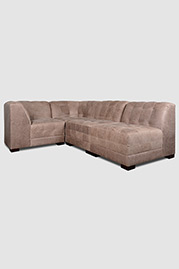 Patrick four piece sectional in Burnham Dove leather