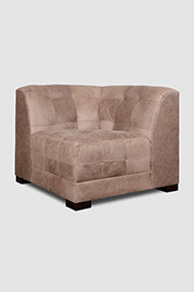 Patrick corner seat in Burnham Dove leather