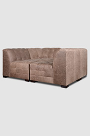 Patrick four piece nest sectional in Burnham Dove leather