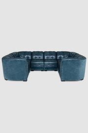 Patrick six piece sectional in Como Bali and Revelation Azure
