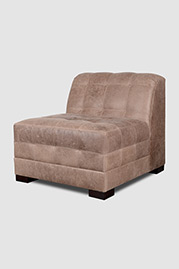 Patrick armless seat in Burnham Dove leather