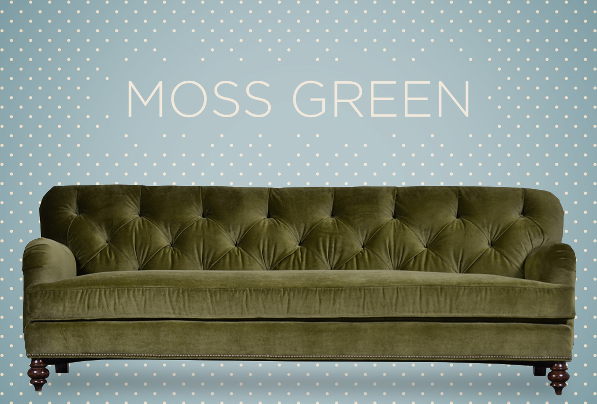 Hot colors for 2015 blog roger chris for Moss green sectional sofa