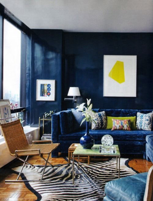 Delicieux Blue Velvet Couch