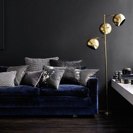 Royal Blue Velvet Sofa – TheSofa