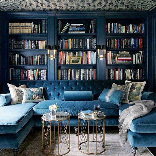 Marina Blue Velvet Sectional Sofa