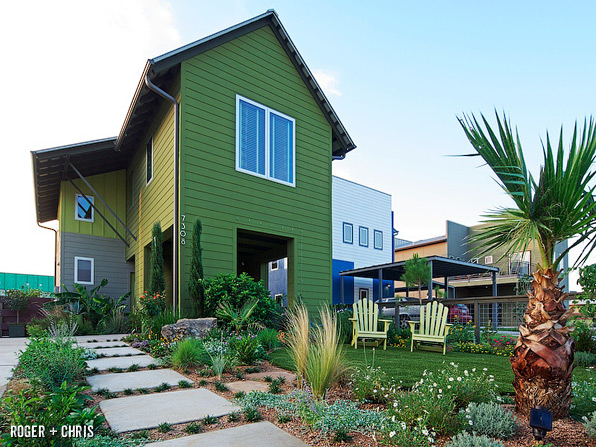 The Front Yard Of Modern Farmhouse Started As A Flat Square Grass With Minimal Landscaping We Added Hundreds Trees Perennials Cacti