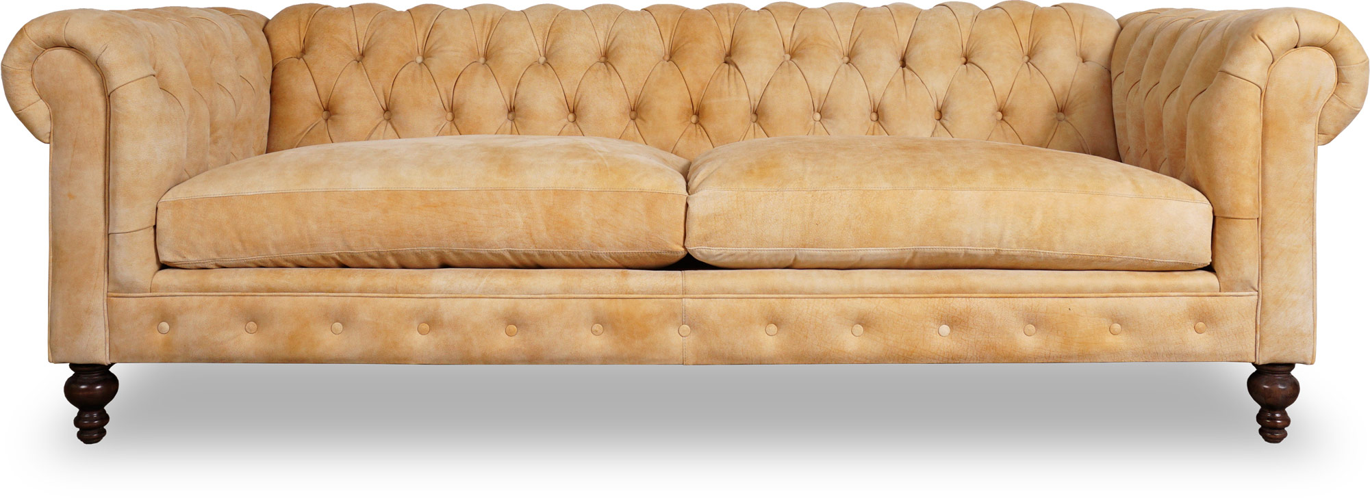 Express Furniture Higgins Leather Chesterfield Sofa Roger