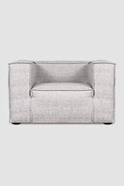 Johnny armchair in Sunbrella Chartres Graphite stain-proof fabric