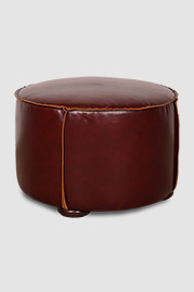 Rooster ottoman in Firenze leather