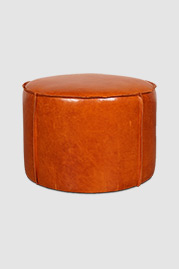 Rooster ottoman in Firenze Butterscotch leather
